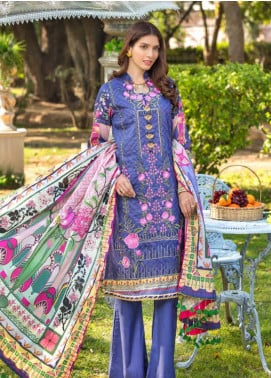 Zara Ali by Magns Textiles Embroidered Lawn Unstitched 3 Piece Suit ZRA20F 9B - Summer Collection