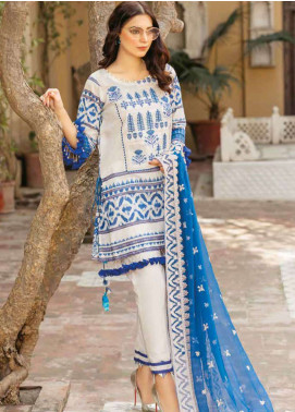 Zara Ali by Magns Textiles Embroidered Lawn Unstitched 3 Piece Suit ZRA19L 01A - Spring / Summer Collection