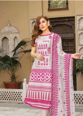 Zara Ali by Magns Textiles Embroidered Lawn Unstitched 3 Piece Suit ZRA19L 01B - Spring / Summer Collection