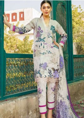 Zara Ali by Magns Textiles Embroidered Jacquard Unstitched 3 Piece Suit ZRA19L 02A - Spring / Summer Collection