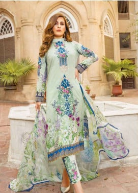 Zara Ali by Magns Textiles Embroidered Jacquard Unstitched 3 Piece Suit ZRA19L 03A - Spring / Summer Collection