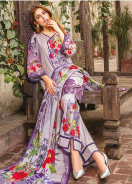 Zara Ali by Magns Textiles Embroidered Lawn Unstitched 3 Piece Suit ZRA19L 04A - Spring / Summer Collection