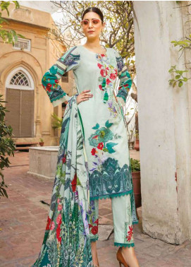 Zara Ali by Magns Textiles Embroidered Lawn Unstitched 3 Piece Suit ZRA19L 04B - Spring / Summer Collection