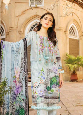 Zara Ali by Magns Textiles Embroidered Lawn Unstitched 3 Piece Suit ZRA19L 05A - Spring / Summer Collection