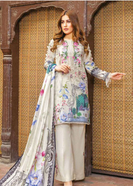 Zara Ali by Magns Textiles Embroidered Lawn Unstitched 3 Piece Suit ZRA19L 05B - Spring / Summer Collection