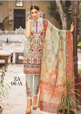 Zara Ali by Magns Textiles Embroidered Lawn Unstitched 3 Piece Suit ZRA19L 06A - Spring / Summer Collection