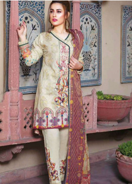 Zara Ali by Magns Textiles Embroidered Lawn Unstitched 3 Piece Suit ZRA19L 06B - Spring / Summer Collection