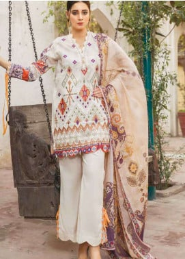 Zara Ali by Magns Textiles Embroidered Lawn Unstitched 3 Piece Suit ZRA19L 07A - Spring / Summer Collection