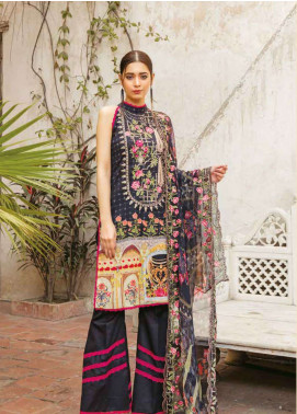 Zara Ali by Magns Textiles Embroidered Lawn Unstitched 3 Piece Suit ZRA19L 08A - Spring / Summer Collection