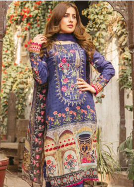 Zara Ali by Magns Textiles Embroidered Lawn Unstitched 3 Piece Suit ZRA19L 08B - Spring / Summer Collection