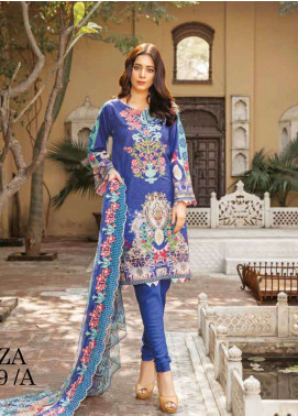 Zara Ali by Magns Textiles Embroidered Lawn Unstitched 3 Piece Suit ZRA19L 09A - Spring / Summer Collection
