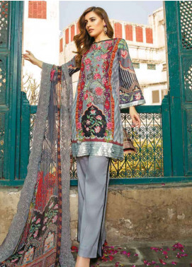 Zara Ali by Magns Textiles Embroidered Lawn Unstitched 3 Piece Suit ZRA19L 10A - Spring / Summer Collection
