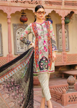 Zara Ali by Magns Textiles Embroidered Lawn Unstitched 3 Piece Suit ZRA19L 10B - Spring / Summer Collection