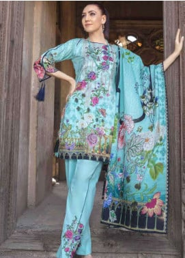 Zara Ali by Magns Textiles Embroidered Lawn Unstitched 3 Piece Suit ZRA19SL 10A - Spring / Summer Collection