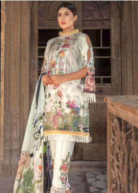 Zara Ali by Magns Textiles Embroidered Lawn Unstitched 3 Piece Suit ZRA19SL 10B - Spring / Summer Collection