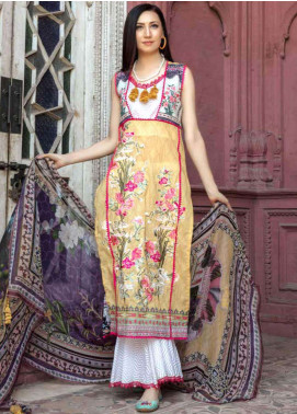 Zara Ali by Magns Textiles Embroidered Lawn Unstitched 3 Piece Suit ZRA19SL 1A - Spring / Summer Collection