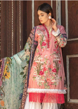 Zara Ali by Magns Textiles Embroidered Lawn Unstitched 3 Piece Suit ZRA19SL 1B - Spring / Summer Collection