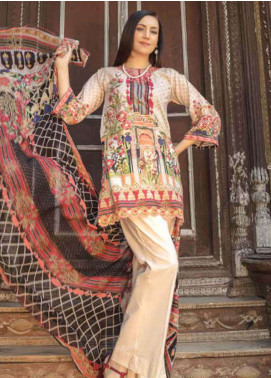 Zara Ali by Magns Textiles Embroidered Lawn Unstitched 3 Piece Suit ZRA19SL 3A - Spring / Summer Collection