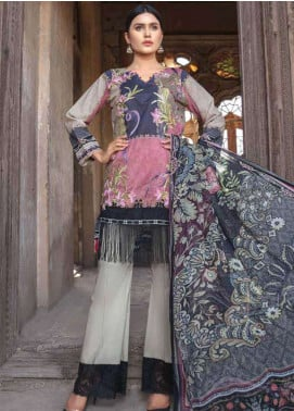 Zara Ali by Magns Textiles Embroidered Lawn Unstitched 3 Piece Suit ZRA19SL 4B - Spring / Summer Collection