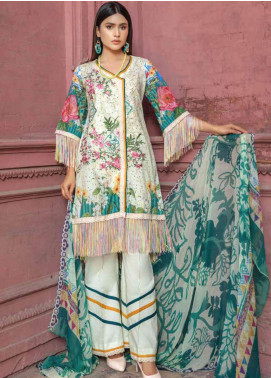 Zara Ali by Magns Textiles Embroidered Lawn Unstitched 3 Piece Suit ZRA19SL 5A - Spring / Summer Collection