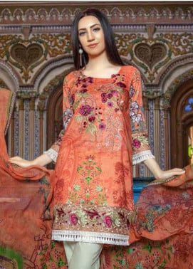 Zara Ali by Magns Textiles Embroidered Lawn Unstitched 3 Piece Suit ZRA19SL 6A - Spring / Summer Collection