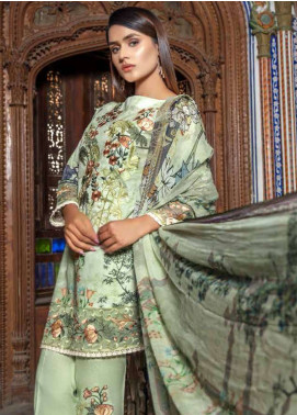 Zara Ali by Magns Textiles Embroidered Lawn Unstitched 3 Piece Suit ZRA19SL 6B - Spring / Summer Collection