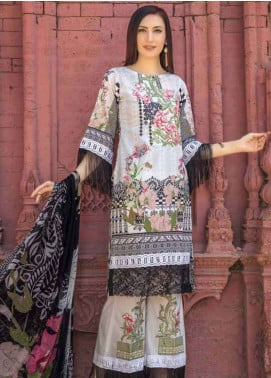 Zara Ali by Magns Textiles Embroidered Lawn Unstitched 3 Piece Suit ZRA19SL 7A - Spring / Summer Collection