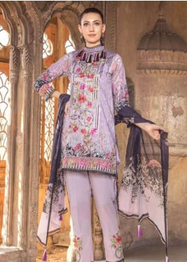 Zara Ali by Magns Textiles Embroidered Lawn Unstitched 3 Piece Suit ZRA19SL 8A - Spring / Summer Collection