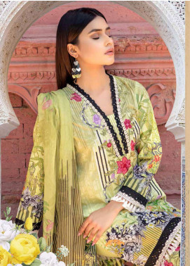 Zara Ali by Magns Textiles Embroidered Lawn Unstitched 3 Piece Suit ZRA19SL 8B - Spring / Summer Collection