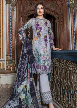 Zara Ali by Magns Textiles Embroidered Lawn Unstitched 3 Piece Suit ZRA19SL 9A - Spring / Summer Collection