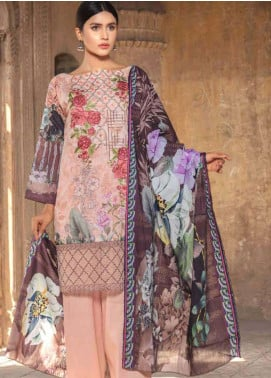 Zara Ali by Magns Textiles Embroidered Lawn Unstitched 3 Piece Suit ZRA19SL 9B - Spring / Summer Collection