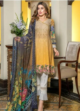 Zara Ali by Magns Textiles Embroidered Viscose Unstitched 3 Piece Suit ZRA19VK 01 A - Winter Collection