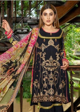 Zara Ali by Magns Textiles Embroidered Viscose Unstitched 3 Piece Suit ZRA19VK 02 A - Winter Collection