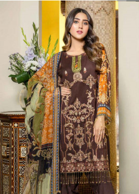Zara Ali by Magns Textiles Embroidered Viscose Unstitched 3 Piece Suit ZRA19VK 02 B - Winter Collection
