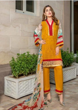 Zara Ali by Magns Textiles Embroidered Viscose Unstitched 3 Piece Suit ZRA19VK 03 B - Winter Collection