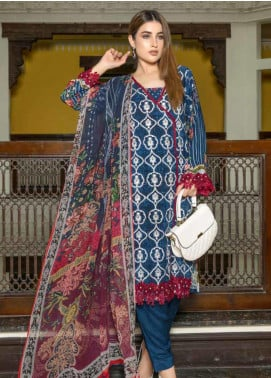 Zara Ali by Magns Textiles Embroidered Viscose Unstitched 3 Piece Suit ZRA19VK 04 B - Winter Collection