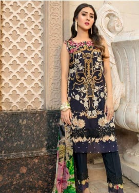 Zara Ali by Magns Textiles Embroidered Viscose Unstitched 3 Piece Suit ZRA19VK 05 A - Winter Collection