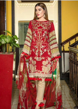 Zara Ali by Magns Textiles Embroidered Viscose Unstitched 3 Piece Suit ZRA19VK 05 B - Winter Collection