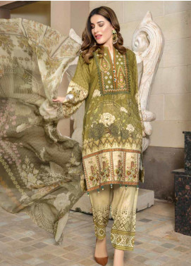 Zara Ali by Magns Textiles Embroidered Viscose Unstitched 3 Piece Suit ZRA19VK 06 A - Winter Collection