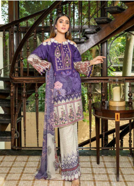 Zara Ali by Magns Textiles Embroidered Viscose Unstitched 3 Piece Suit ZRA19VK 06 B - Winter Collection
