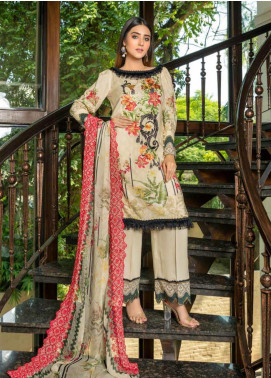 Zara Ali by Magns Textiles Embroidered Viscose Unstitched 3 Piece Suit ZRA19VK 07 A - Winter Collection