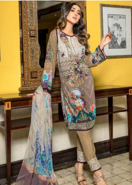 Zara Ali by Magns Textiles Embroidered Viscose Unstitched 3 Piece Suit ZRA19VK 08 A - Winter Collection