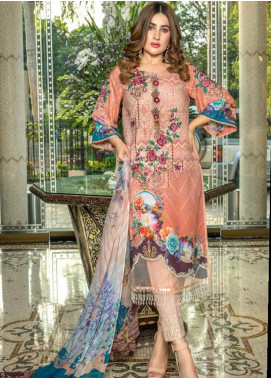 Zara Ali by Magns Textiles Embroidered Viscose Unstitched 3 Piece Suit ZRA19VK 08 B - Winter Collection
