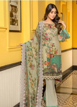 Zara Ali by Magns Textiles Embroidered Viscose Unstitched 3 Piece Suit ZRA19VK 10 A - Winter Collection
