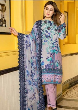 Zara Ali by Magns Textiles Embroidered Viscose Unstitched 3 Piece Suit ZRA19VK 10 B - Winter Collection
