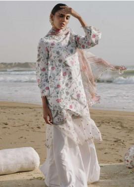 Zara Shahjahan Embroidered Lawn Unstitched 3 Piece Suit ZSJ19LH 9 KOHINOOR - Festive Collection