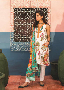 Zara Shahjahan Embroidered Lawn Unstitched 3 Piece Suit ZSJ19L JEHAN B - Spring / Summer Collection