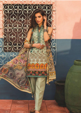 Zara Shahjahan Embroidered Lawn Unstitched 3 Piece Suit ZSJ19L KOEL B - Spring / Summer Collection