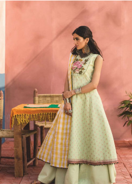 Zara Shahjahan Embroidered Jacquard Unstitched 3 Piece Suit ZSJ19L MEHERMA B - Spring / Summer Collection