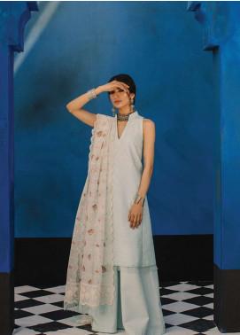 Zara Shahjahan Embroidered Schiffli Unstitched 3 Piece Suit ZSJ19L SEHER B - Spring / Summer Collection